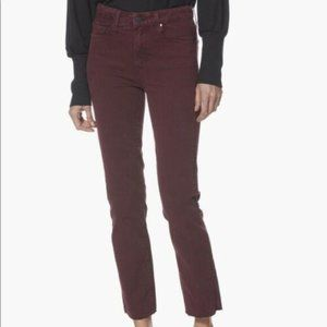 Paige Hoxton Straight Ankle Raw Hem, Size 30